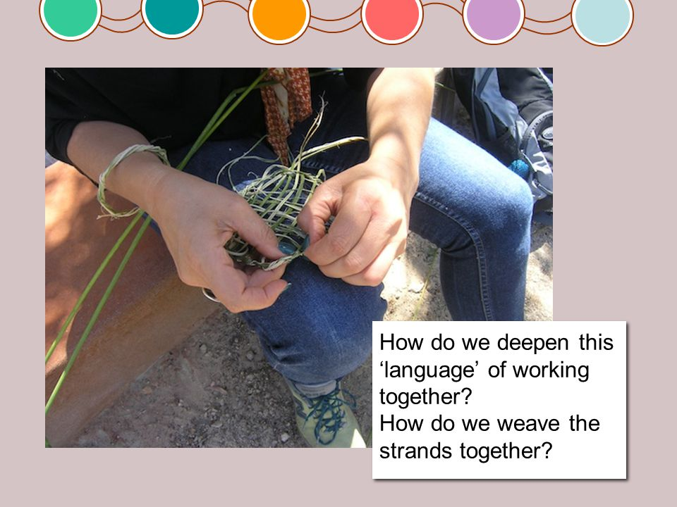 How do we deepen this 'language' of working together.