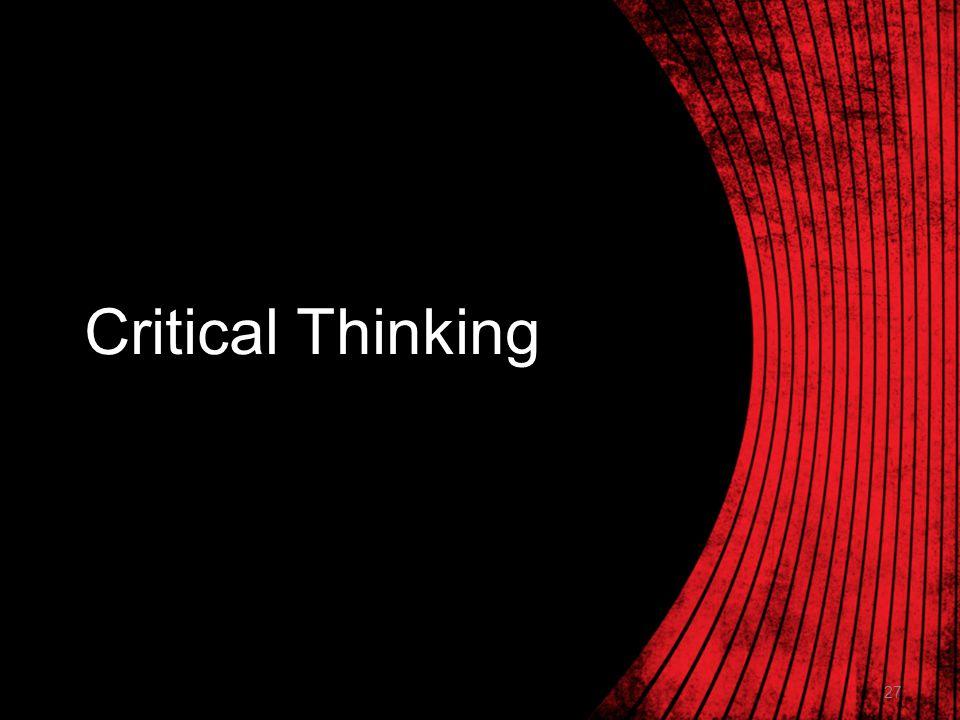 27 Critical Thinking