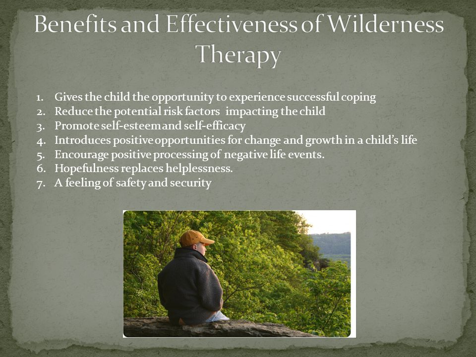 1.Gives the child the opportunity to experience successful coping 2.Reduce the potential risk factors impacting the child 3.Promote self-esteem and se