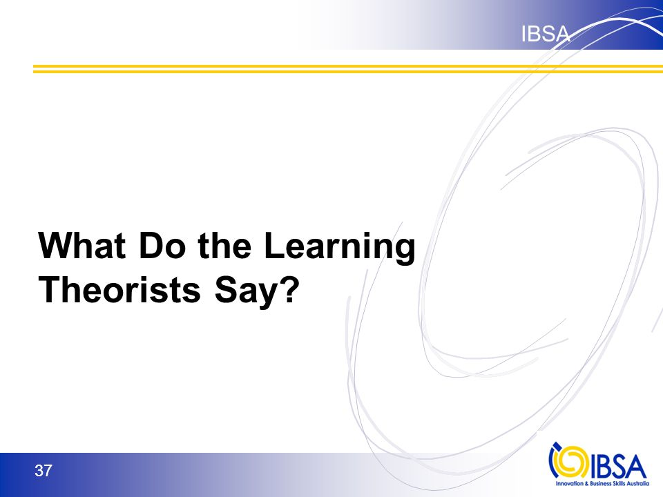 IBSA 36 What we call 'best practice' in teaching and learning comes a number of key educational theorists who have researched different aspects of learning.