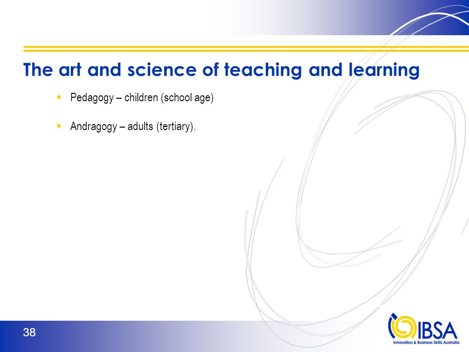 IBSA 37 What Do the Learning Theorists Say