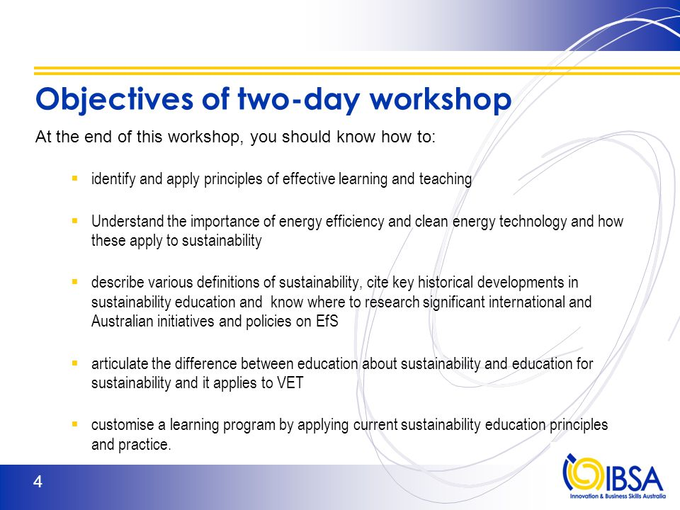 TAESUS502A Identify and apply current sustainability education principles and practice to learning programs Element 1 – Identify effective learning and teaching principles and practice.