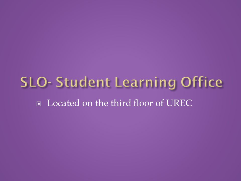  Located on the third floor of UREC