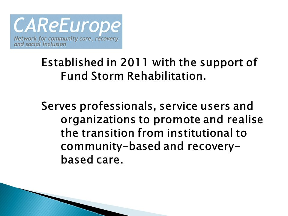 Established in 2011 with the support of Fund Storm Rehabilitation.
