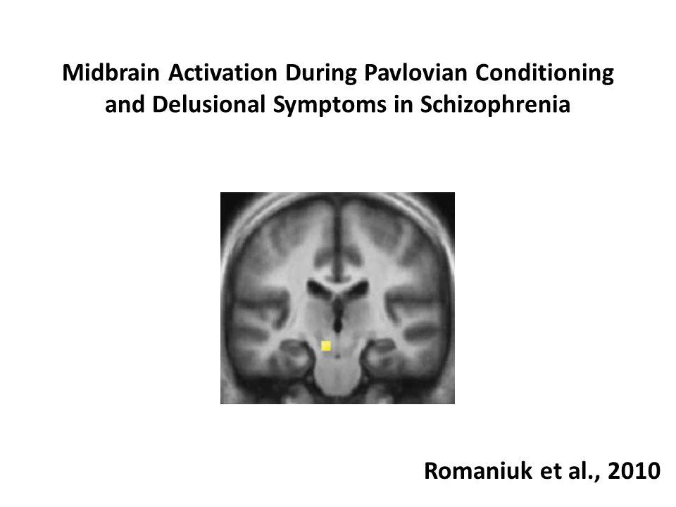 Midbrain Activation During Pavlovian Conditioning and Delusional Symptoms in Schizophrenia Romaniuk et al., 2010