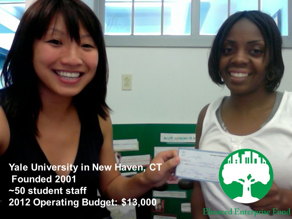 Yale University in New Haven, CT Founded 2001 ~50 student staff 2012 Operating Budget: $13,000