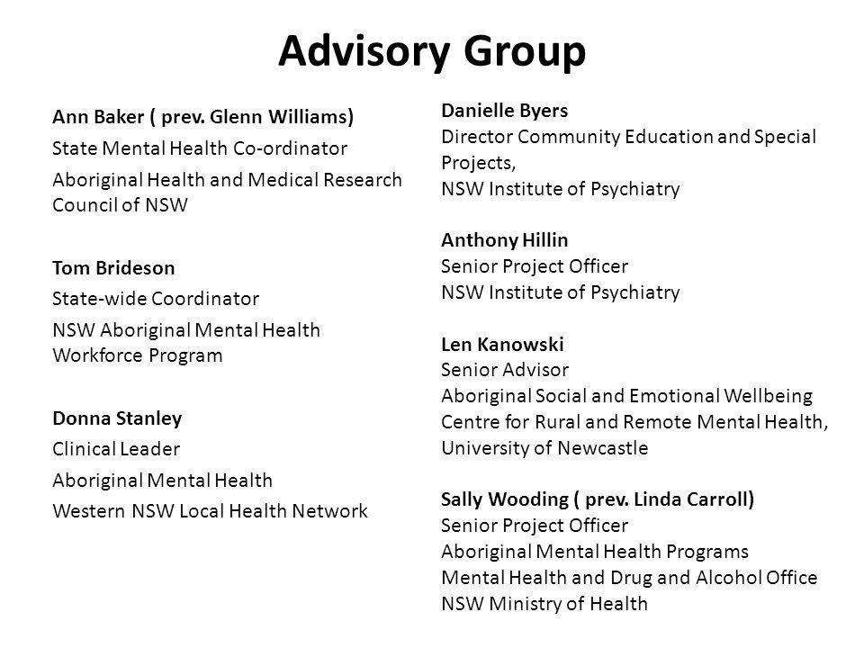 Advisory Group Ann Baker ( prev.