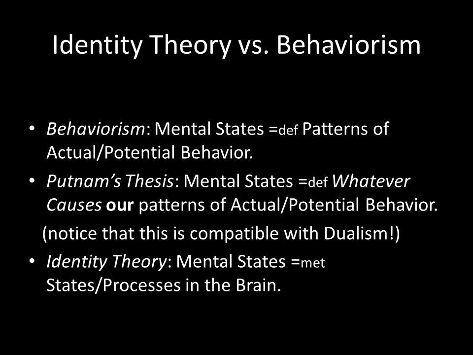Identity Theory vs.