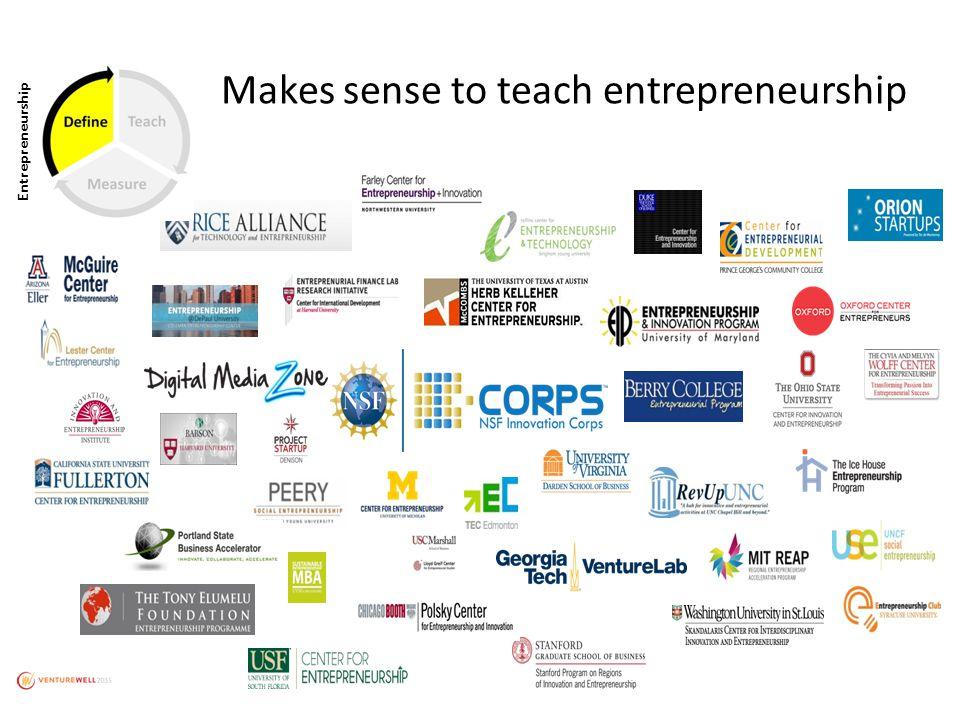 Makes sense to teach entrepreneurship Entrepreneurship