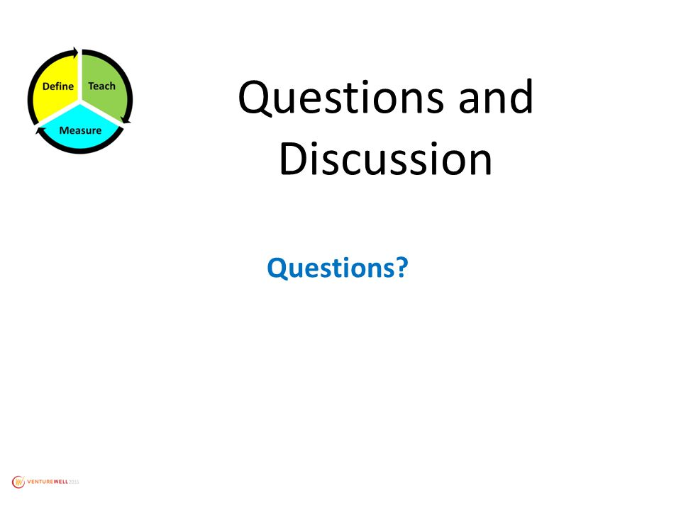 Questions and Discussion Questions?