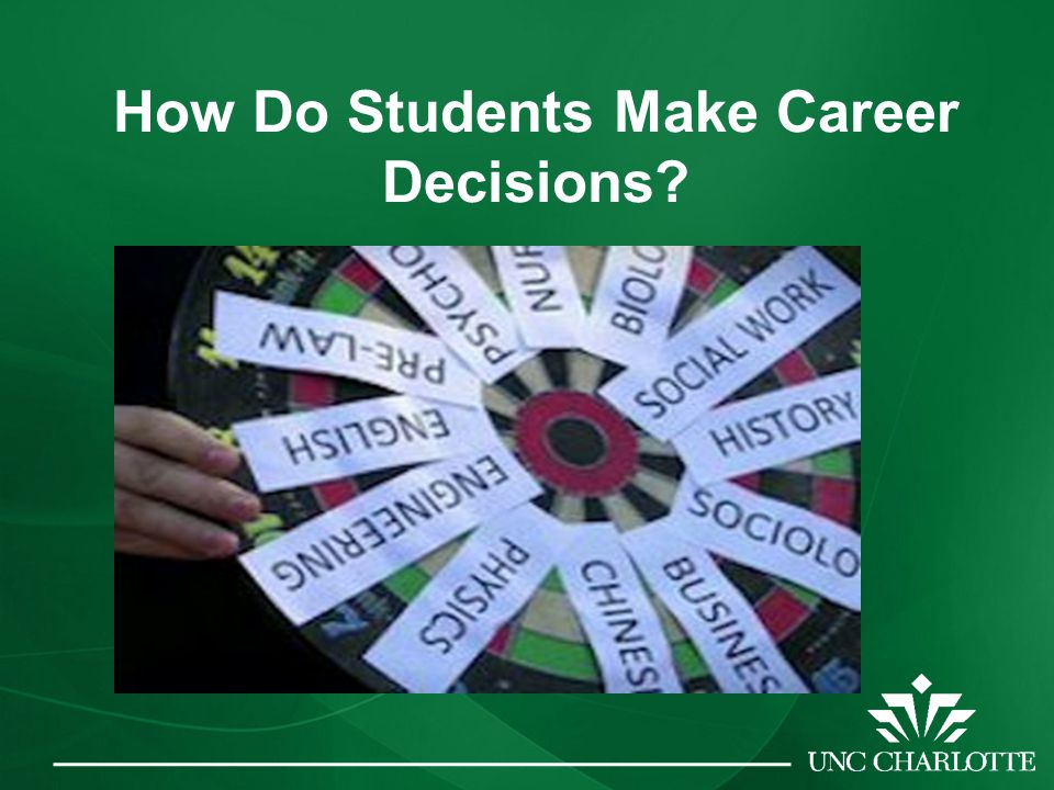 How Do Students Make Career Decisions