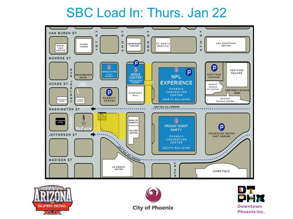 SBC Load In: Thurs. Jan 22 21