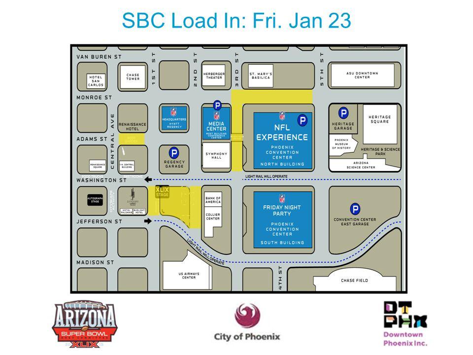 SBC Load In: Fri. Jan 23 22