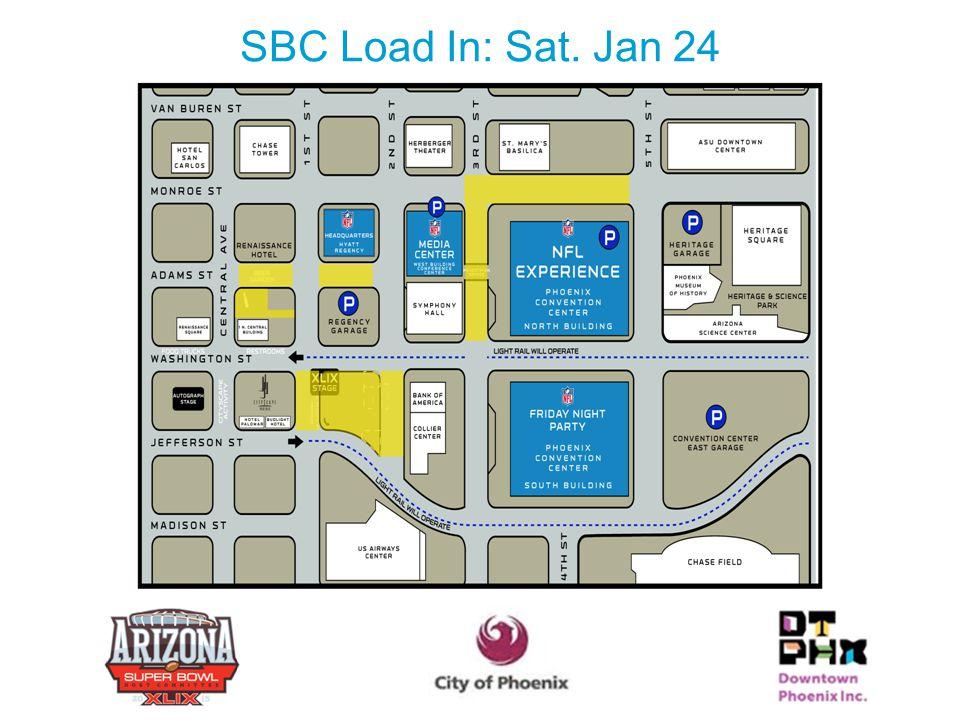 SBC Load In: Sat. Jan 24 23