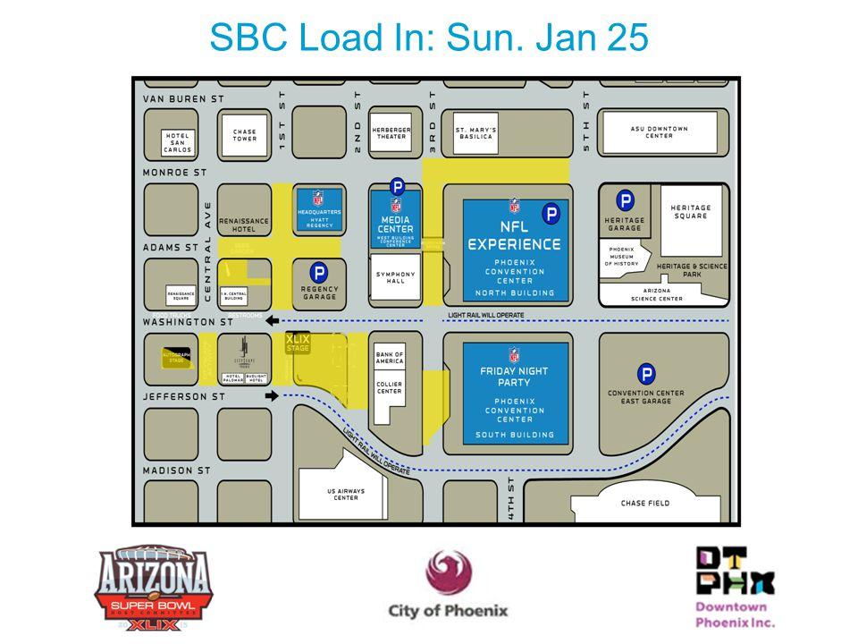 SBC Load In: Sun. Jan 25 24