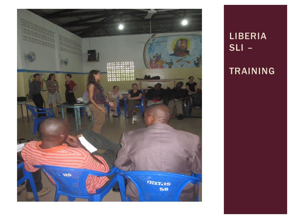 LIBERIA SLI – TRAINING