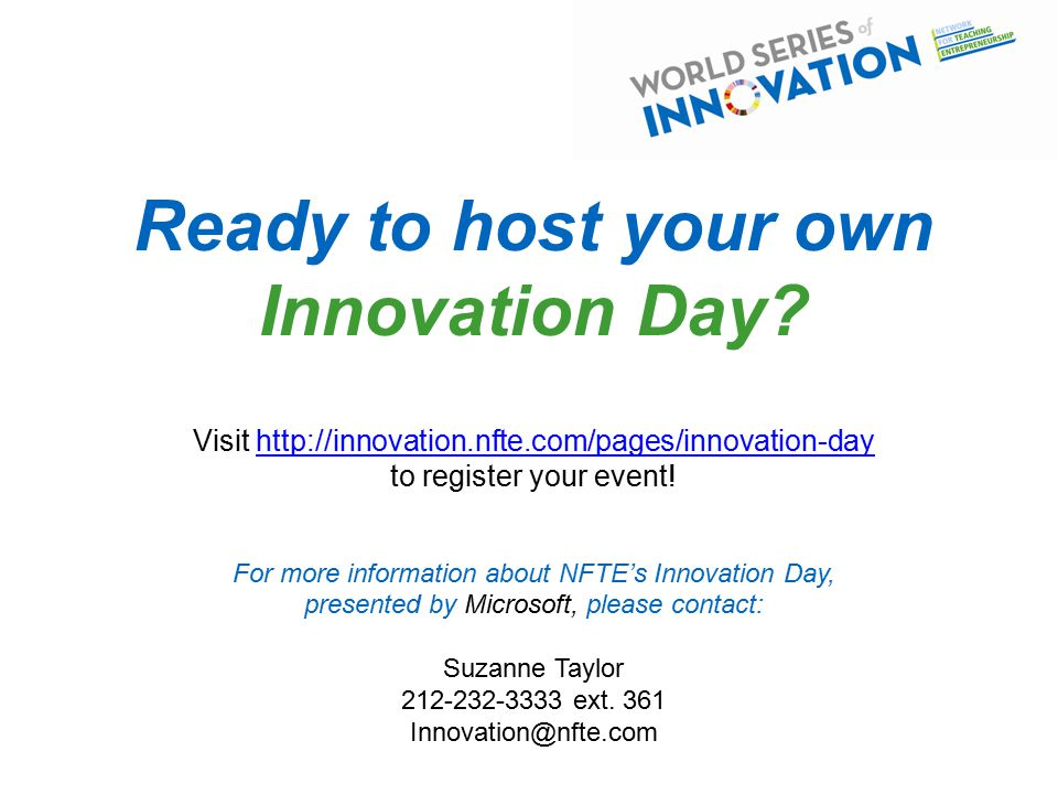 Ready to host your own Innovation Day.
