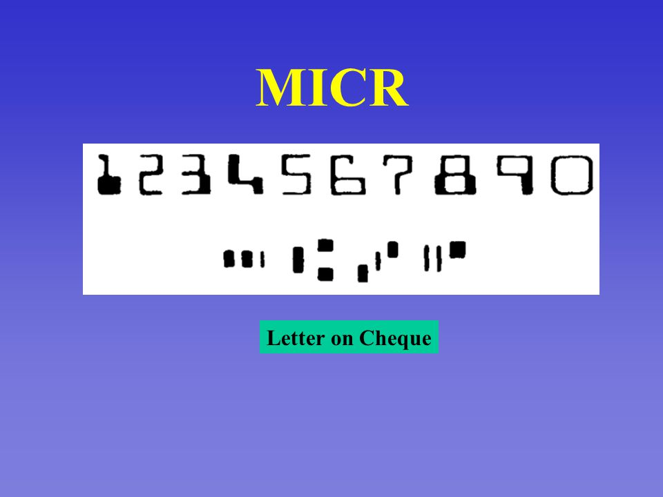 Optical Character Reader MC Paper