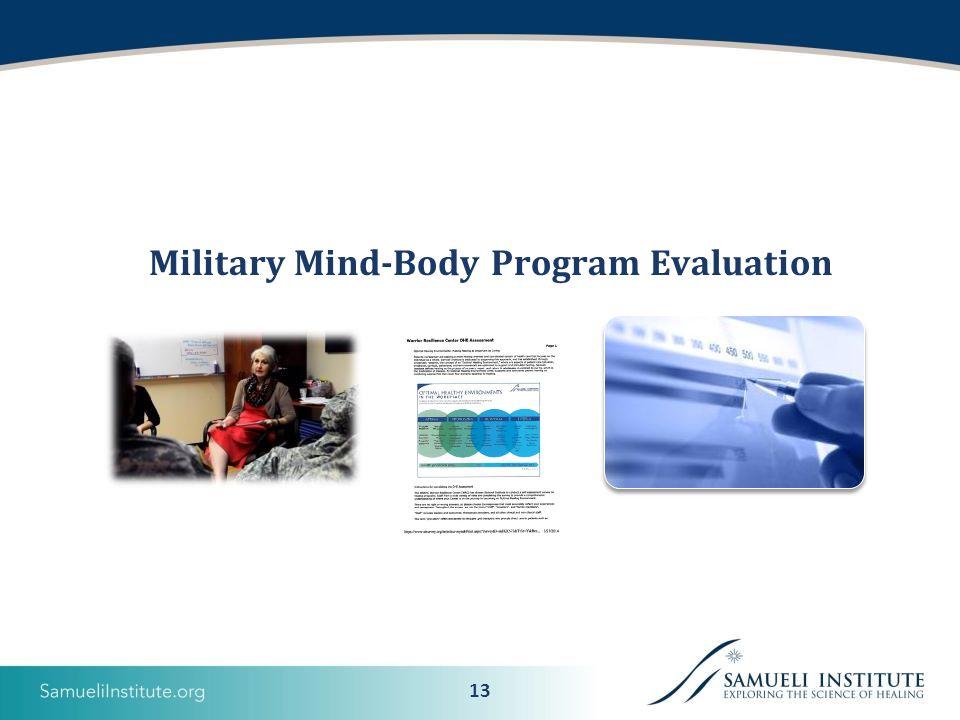 13 Military Mind-Body Program Evaluation