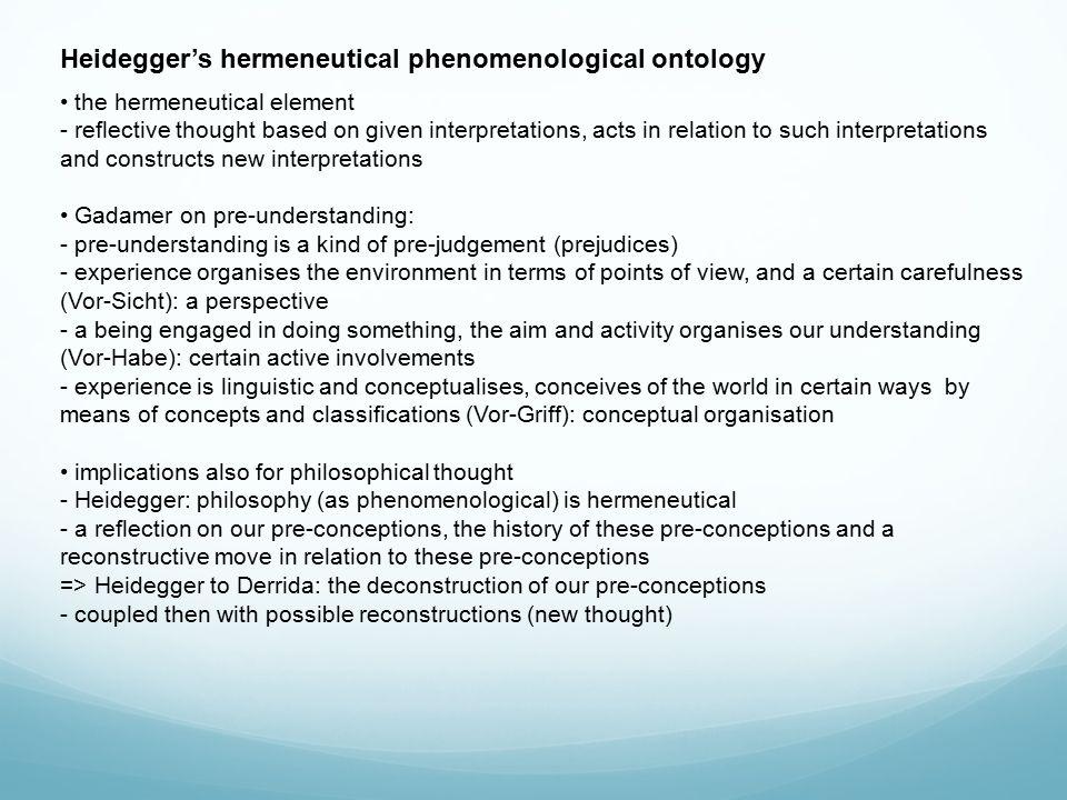 Heidegger's hermeneutical phenomenological ontology the social aspect - Heidegger's distinction: spontaneous 'inauthentic' being – vs.