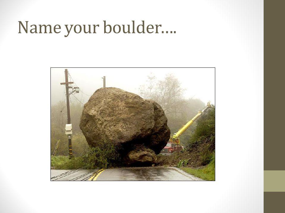 Name your boulder….