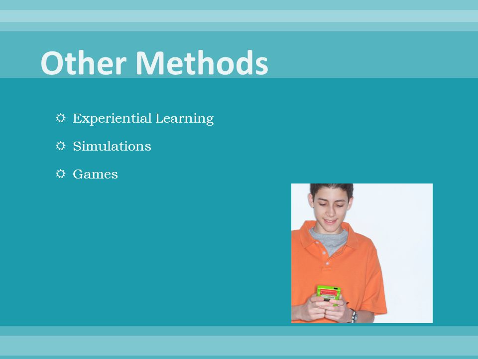  Experiential Learning  Simulations  Games