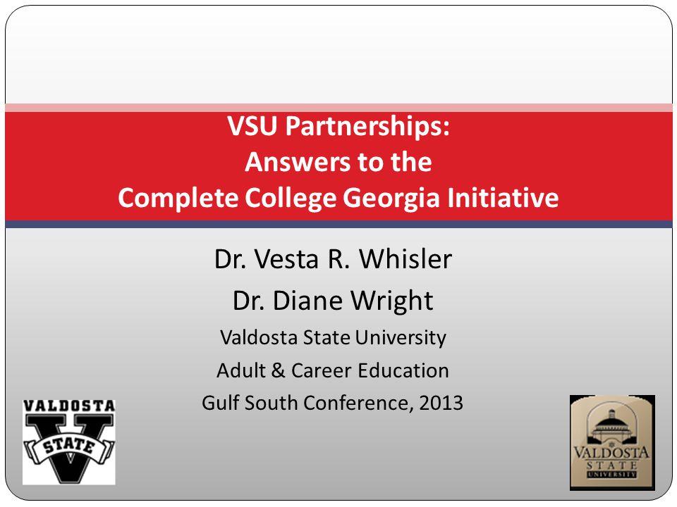 Dr. Vesta R. Whisler Dr.