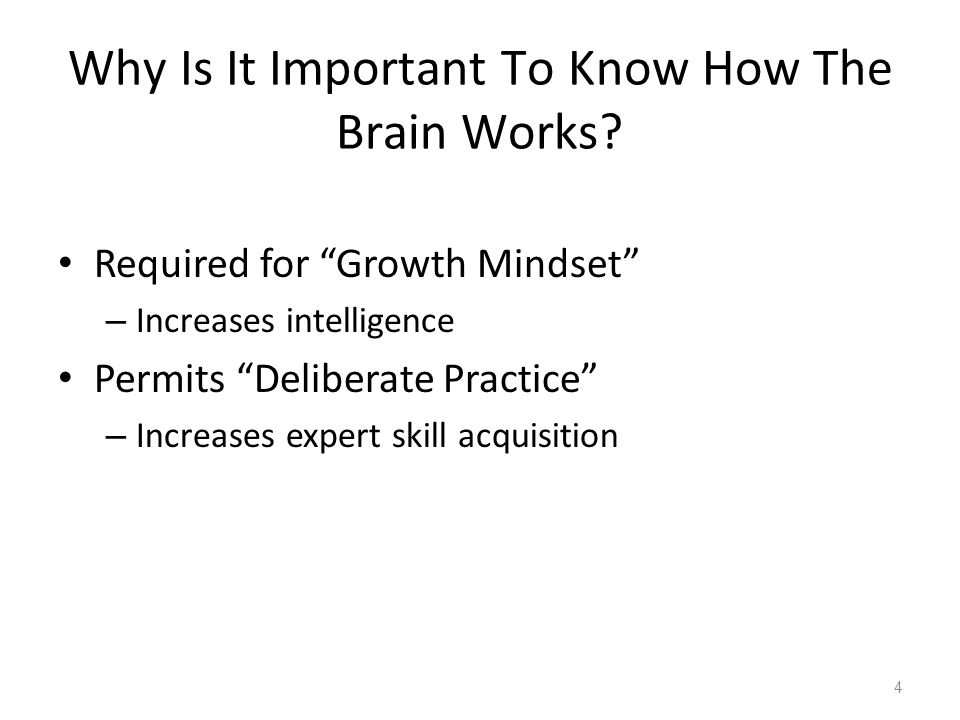 Developing Expert Skills – Physically Transforming The Brain How do we change our brains.