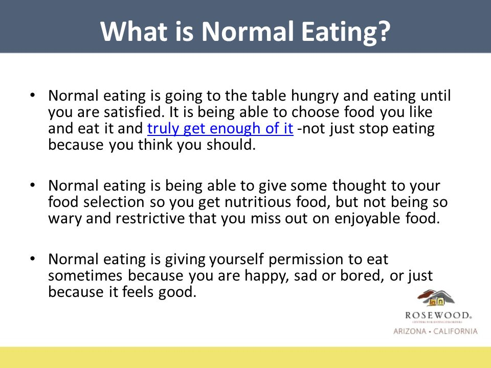 What is Normal Eating.