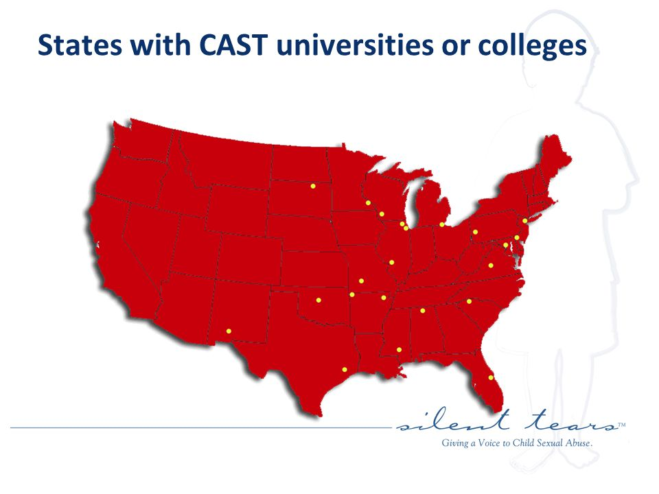States with CAST universities or colleges