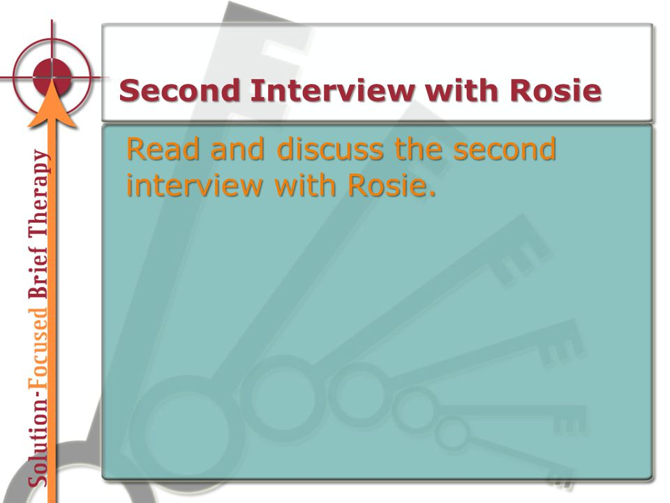 Second Interview with Rosie Read and discuss the second interview with Rosie.