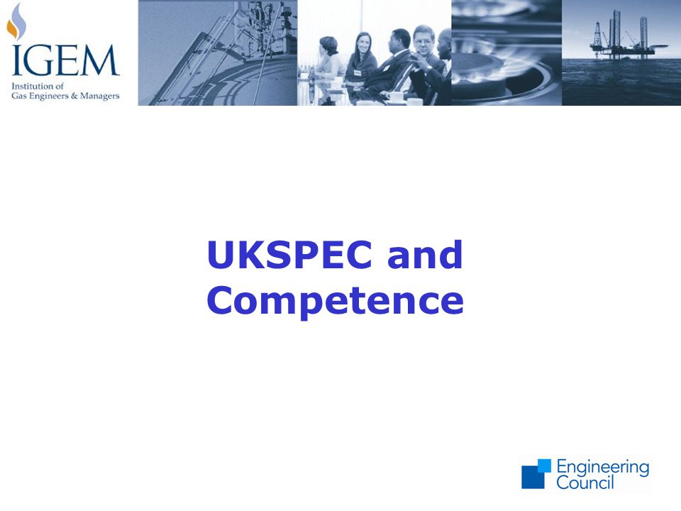 UKSPEC and Competence