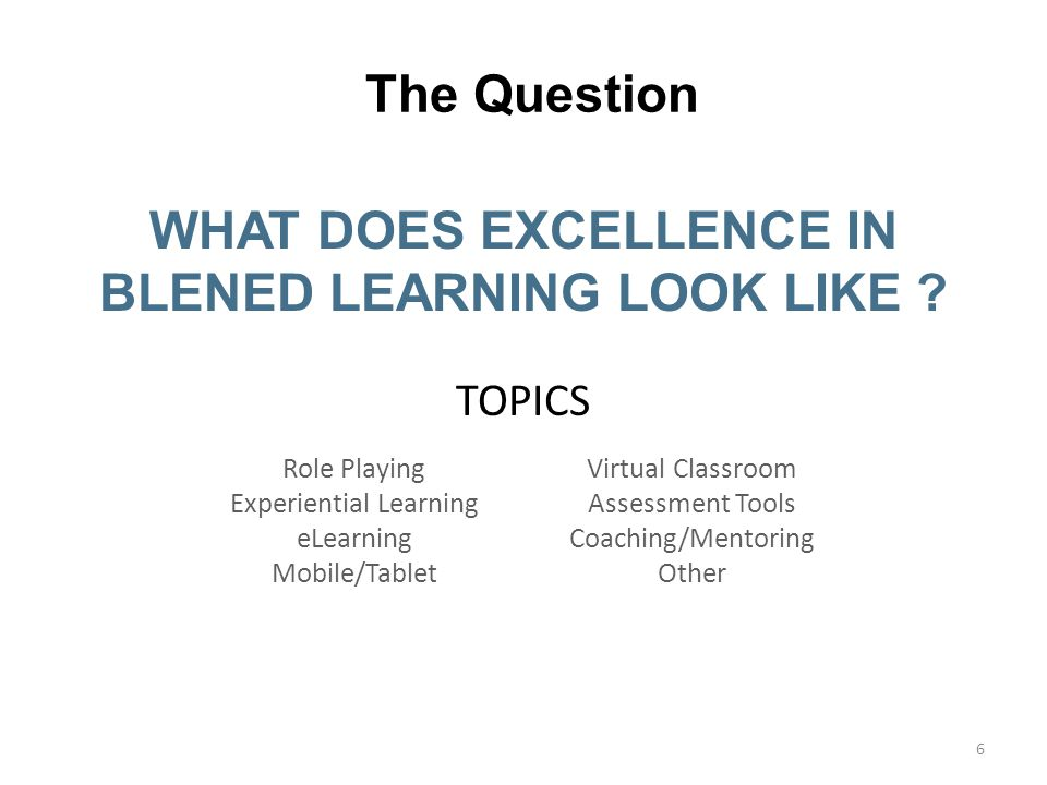 TOPIC SIX Assessment Tools Assess both knowledge and confidence in the answer.