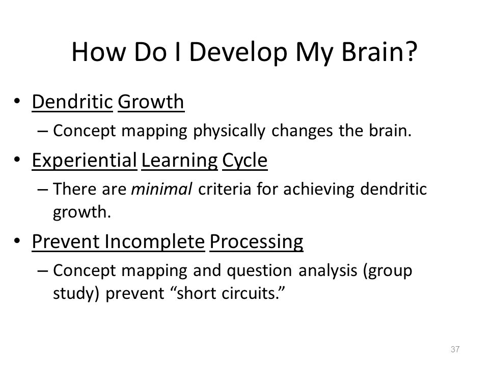How Do I Develop My Brain. Dendritic Growth – Concept mapping physically changes the brain.