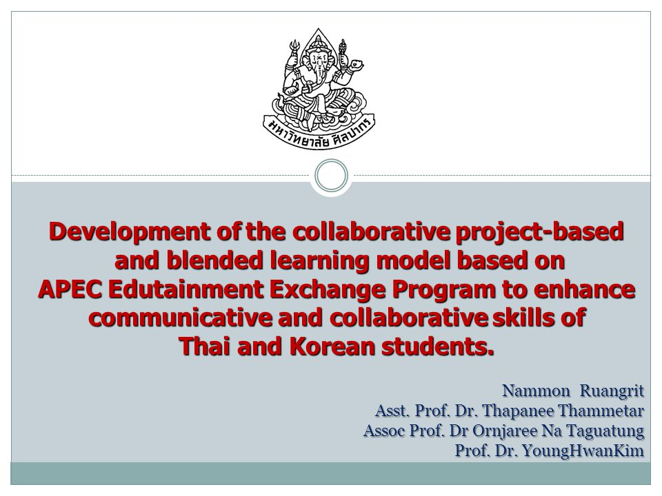 Learning Method Edutainment Project-based Learning Collaborative Learning Blended Learning Collaboration with on- line and off-line Knowledge-based + Virtue-based Community based activities Meaningful Experiential Learning Collaboration with on- line and off-line Knowledge-based + Virtue-based Community based activities Meaningful Experiential Learning Communicative and Collaborative Skills YoungHwan Kim, 2007 BACKGROUND