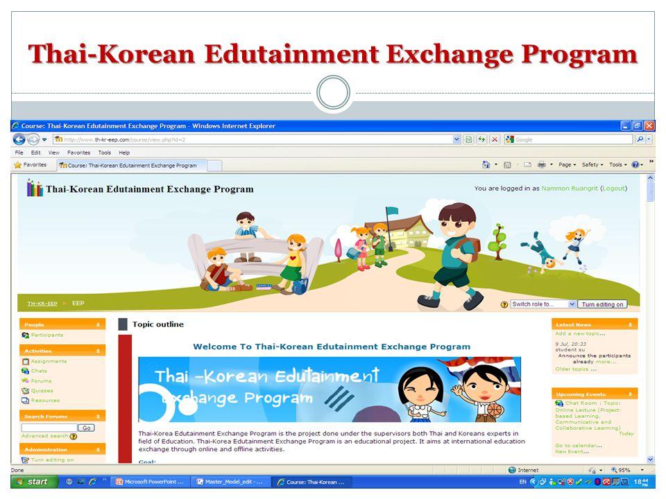Thai-Korean Edutainment Exchange Program