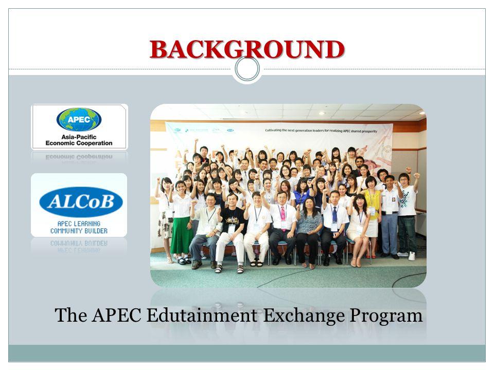 The APEC Edutainment Exchange Program BACKGROUND