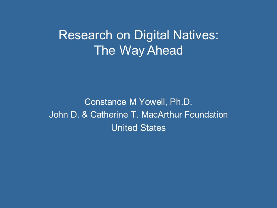 Constance M Yowell, Ph.D. John D. & Catherine T.