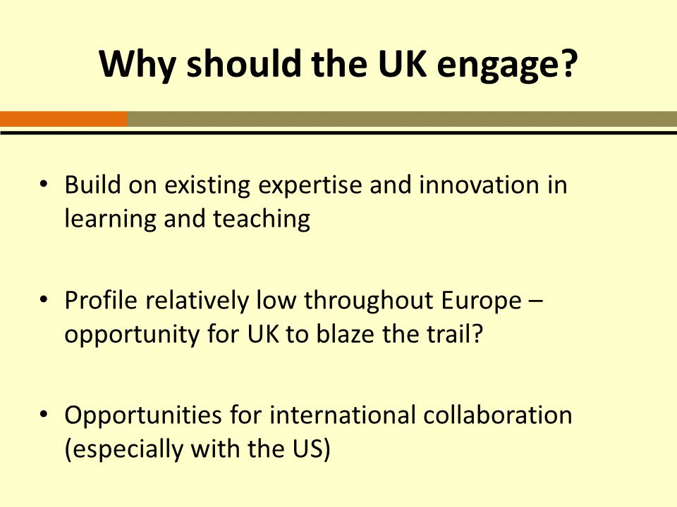 Why should the UK engage.