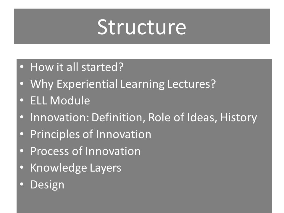 Structure Innovation Life Cycle Diffusion Case Studies 1.Police IT, 2.Kundawada Kere, 3.Proposed University Examination System Conclusion