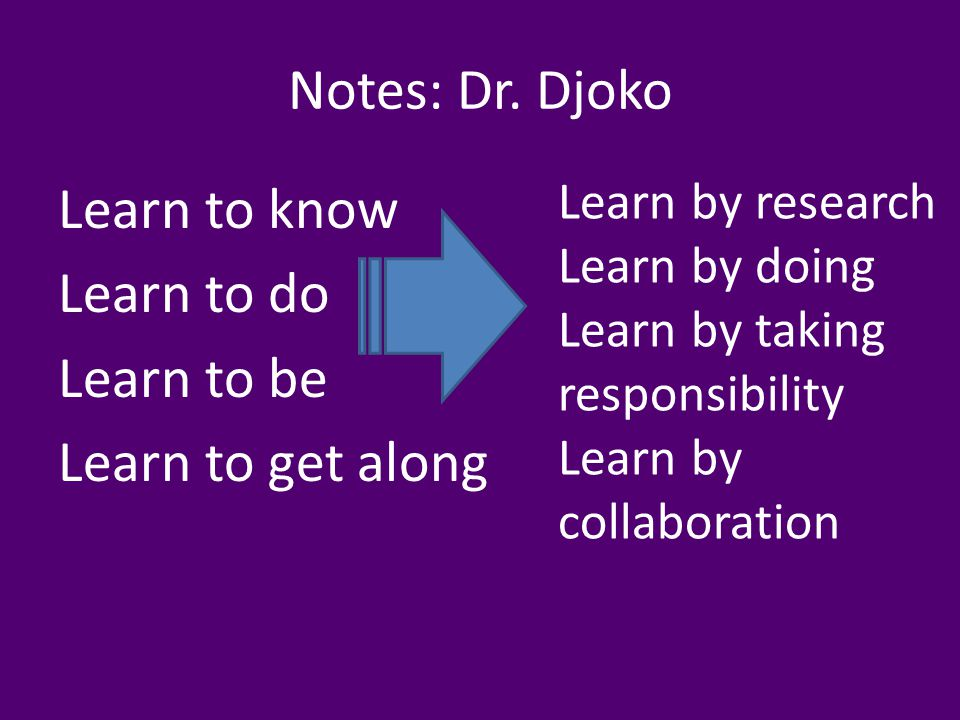Notes: Dr.