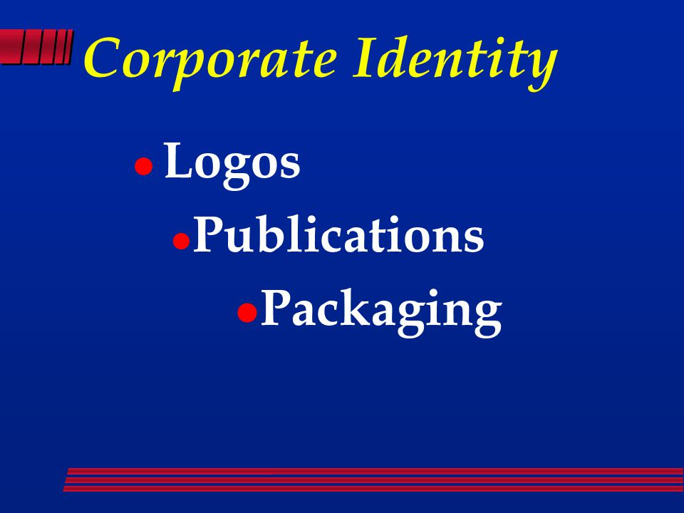 Corporate Identity Logos Publications Packaging