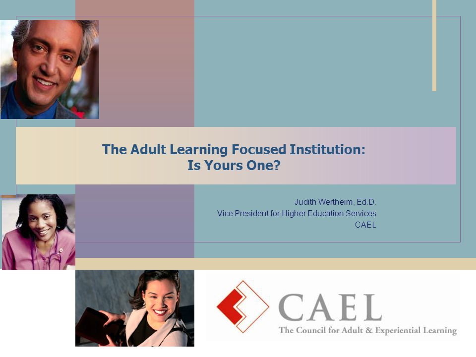 The Adult Learning Focused Institution: Is Yours One.