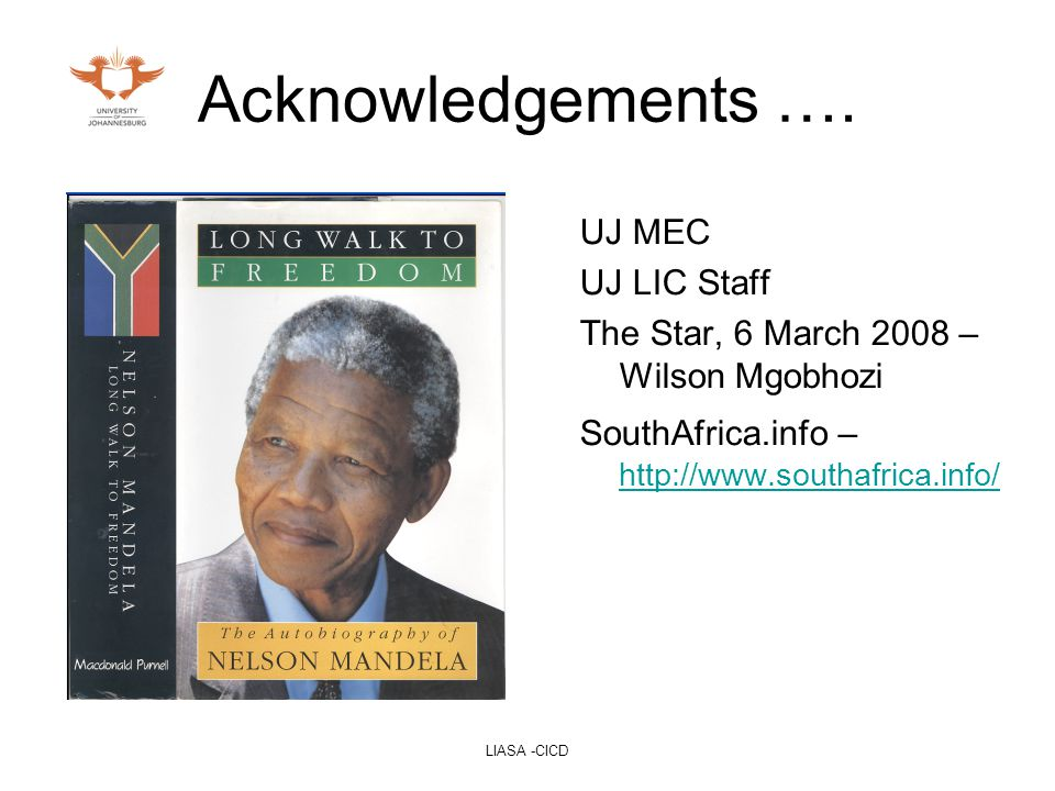 LIASA -CICD Acknowledgements ….
