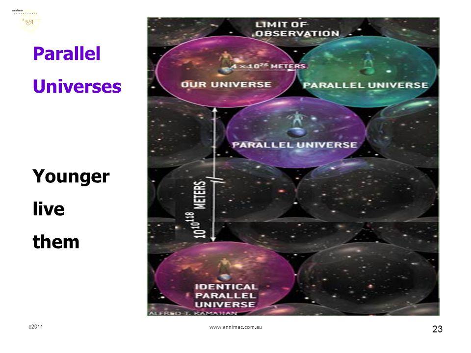 c2011www.annimac.com.au 23 Parallel Universes Younger live them
