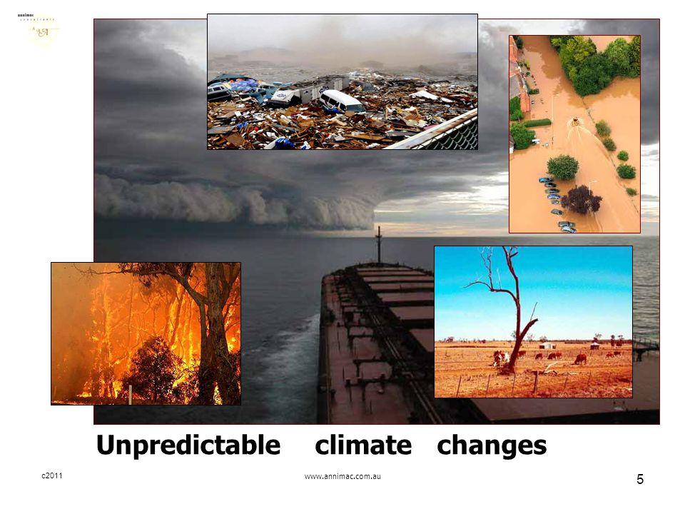 c2011www.annimac.com.au 5 Unpredictable climate changes