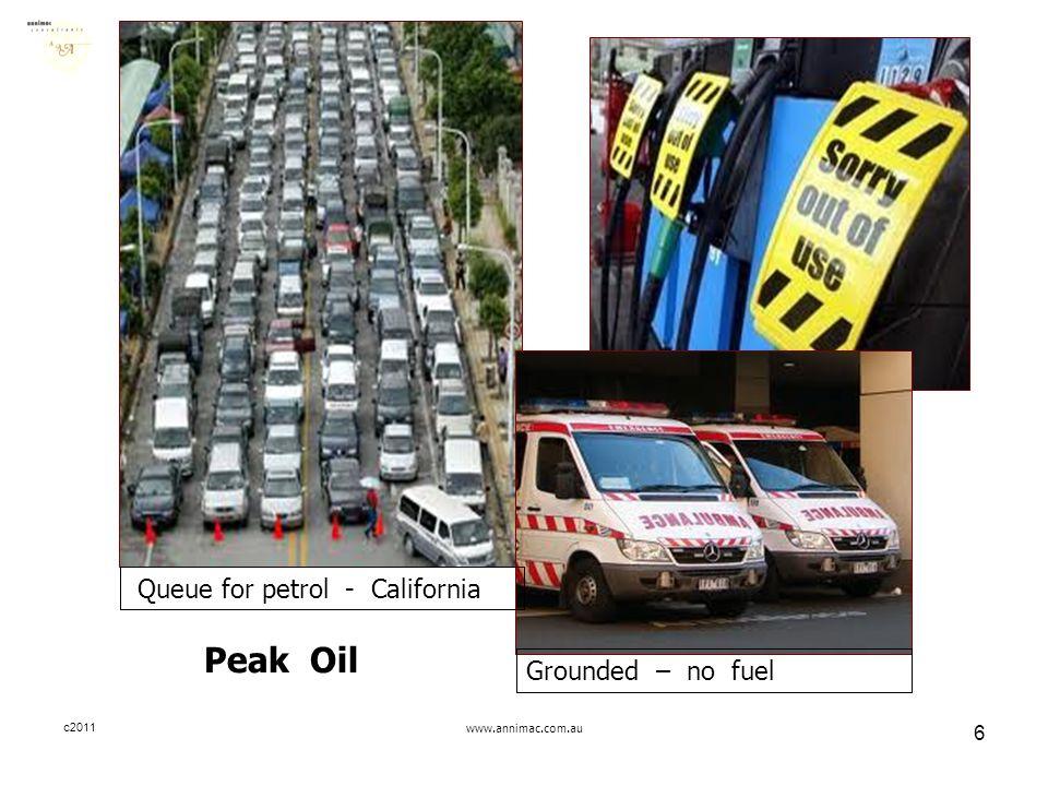 c2011www.annimac.com.au 6 Queue for petrol - California Peak Oil Grounded – no fuel