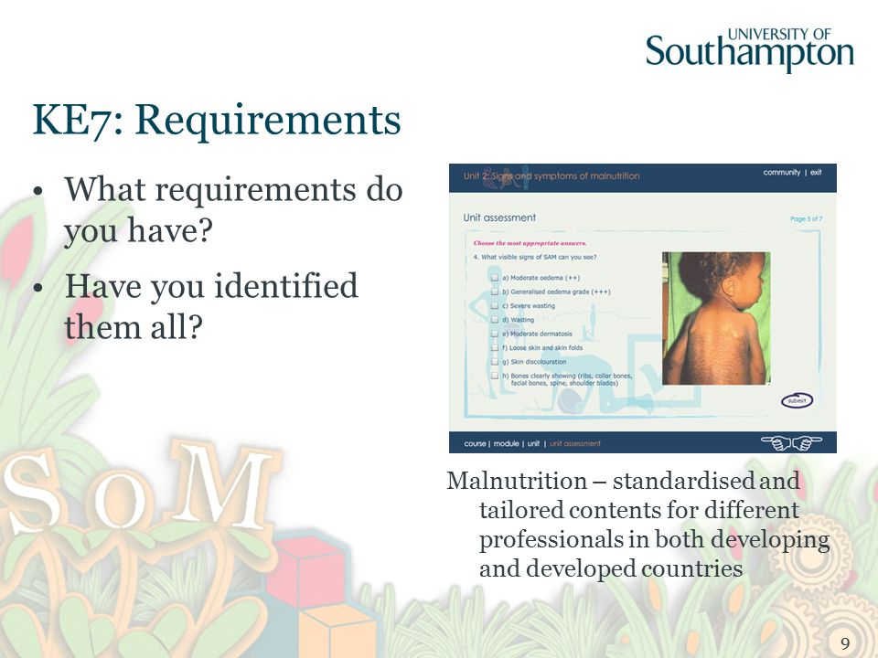 KE7: Requirements What requirements do you have. Have you identified them all.