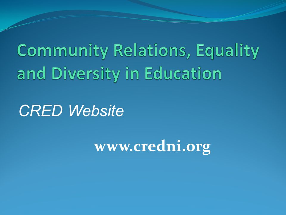 CRED Website www.credni.org