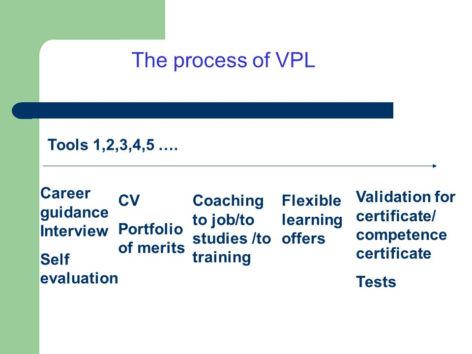 VPL in the Nordic countries Different approaches and questions Both formative and summative Approaches.